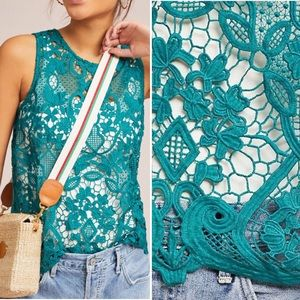 NWOT Anthropologie James Coviello Lace Shell Tank